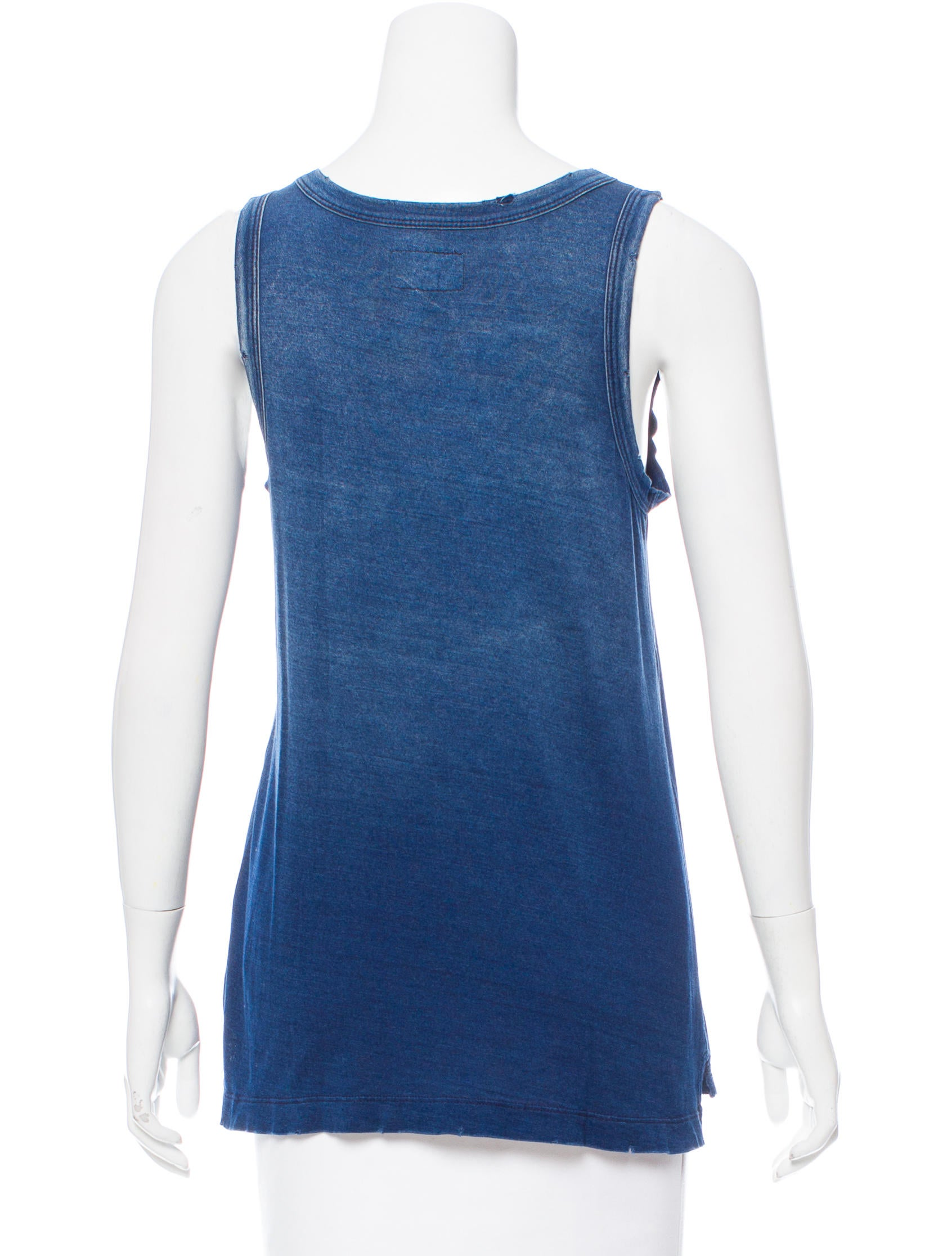 Current elliott chambray sleeveless top clothing for Chambray top
