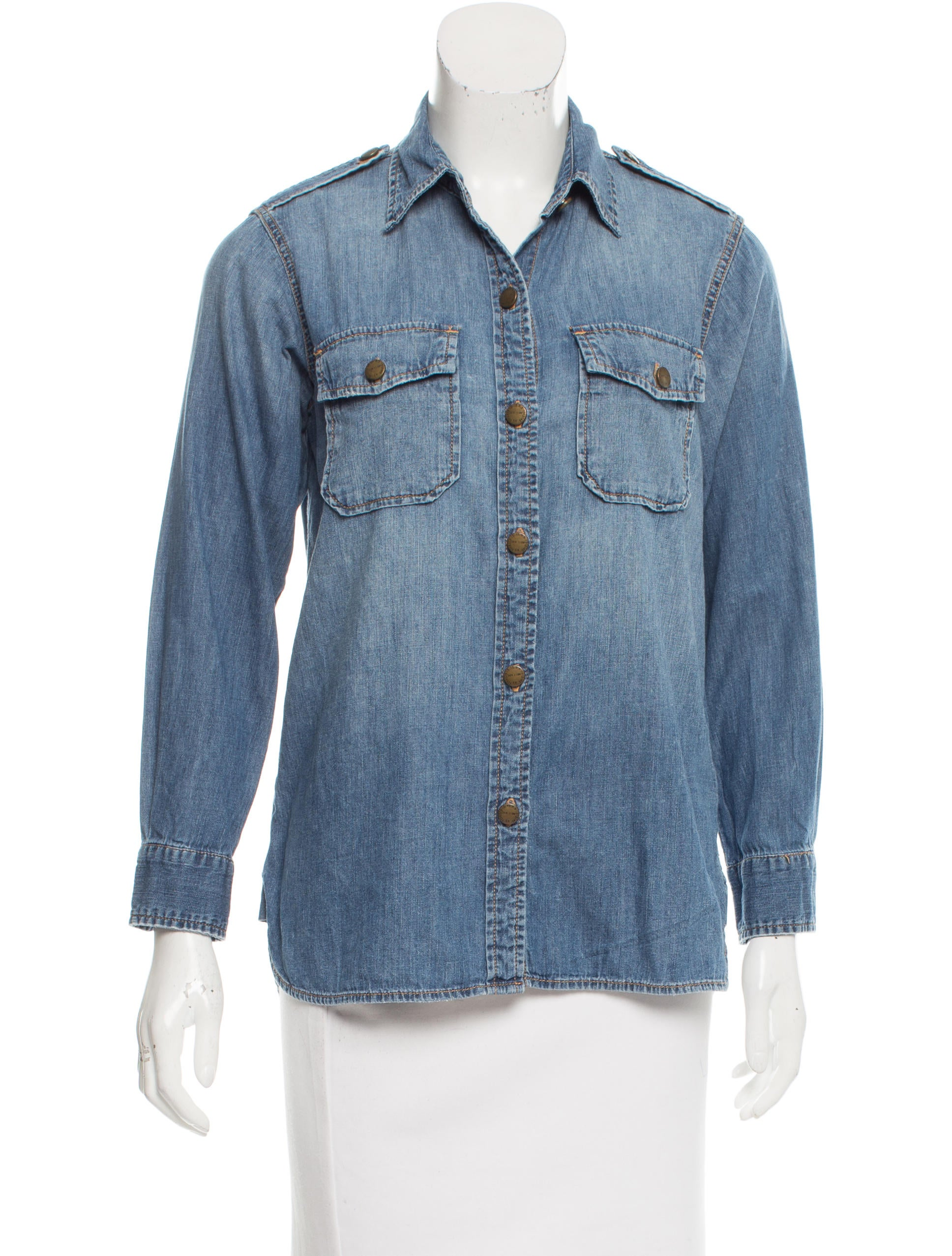 current elliott the perfect denim shirt clothing
