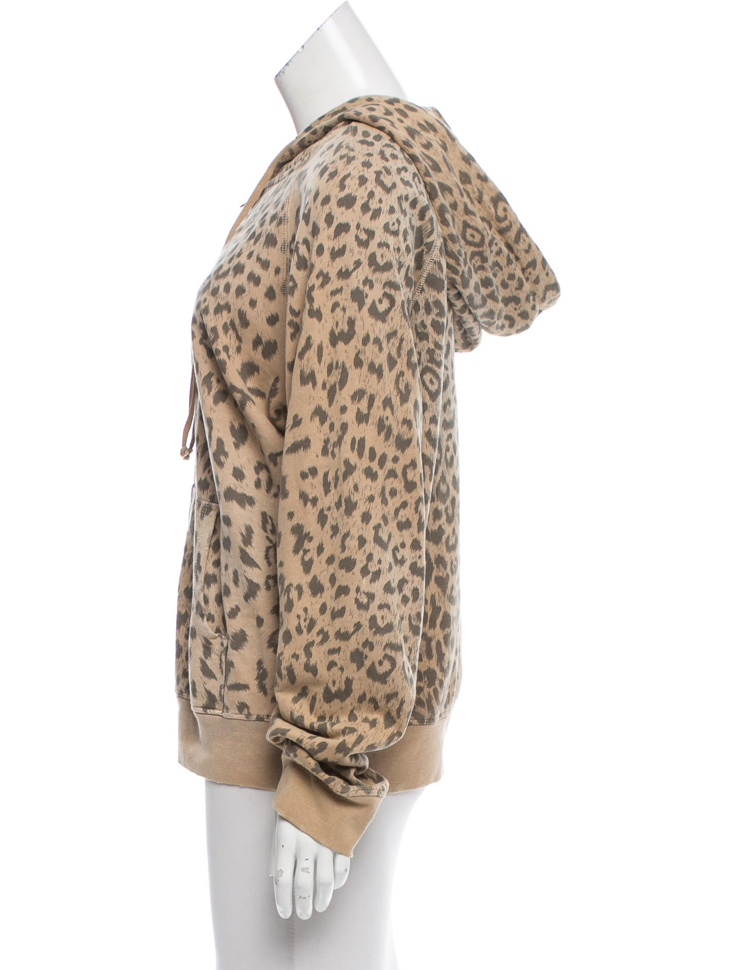 Leopard zip up hoodie