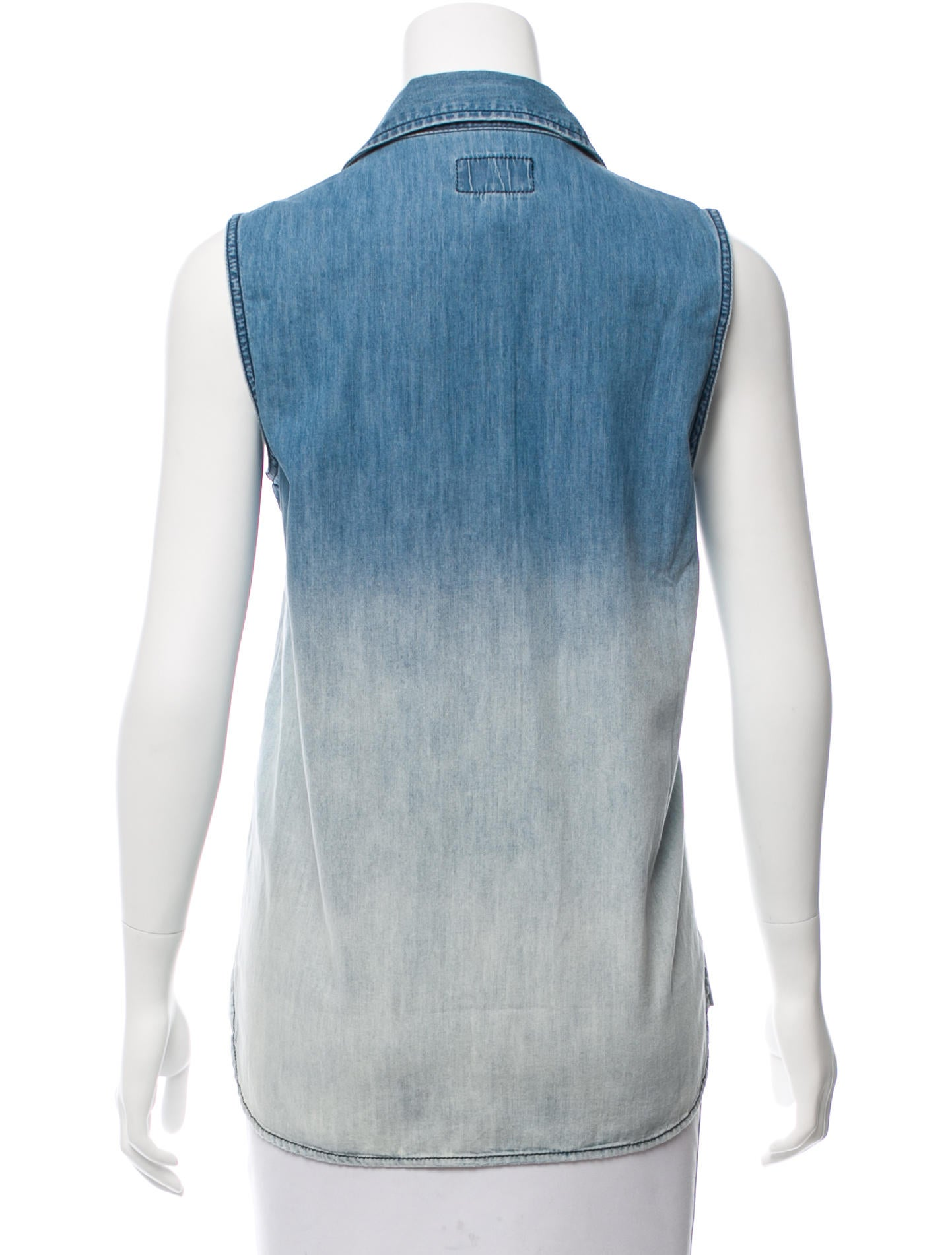 Current elliott sleeveless chambray top w tags clothing for Chambray top