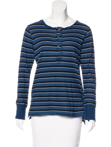 Current/Elliott Striped Long Sleeve Top None
