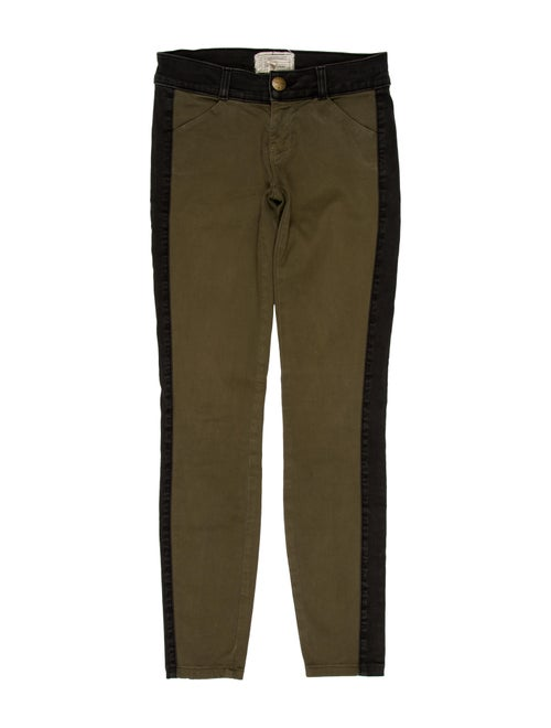 Current/Elliott The Rider Low-Rise Jeans green