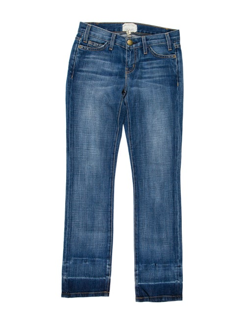 Current/Elliott Low-Rise Straight Jeans blue