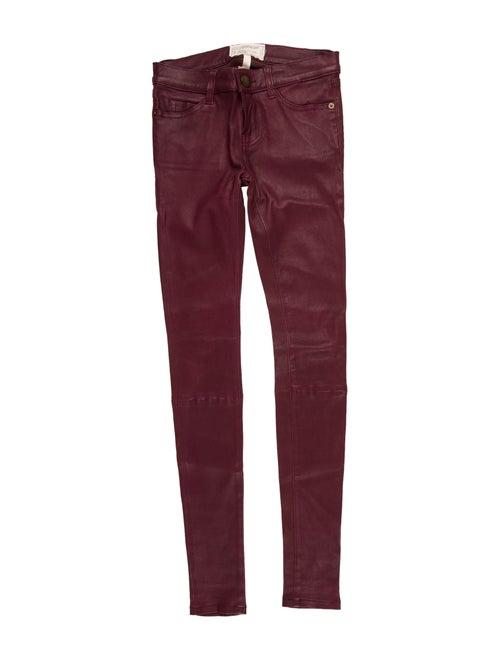 Current/Elliott Leather Skinny Leg Pants Red