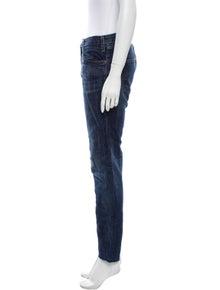 Current/Elliott Mid-Rise Straight Leg Jeans
