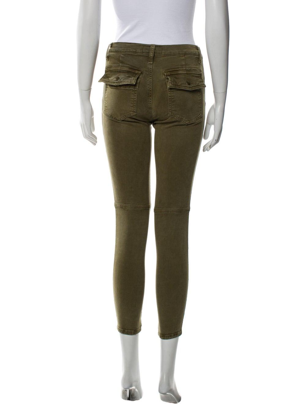 Current/Elliott Skinny Leg Pants Green - image 3