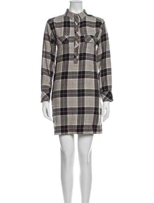 Current/Elliott Plaid Print Mini Dress