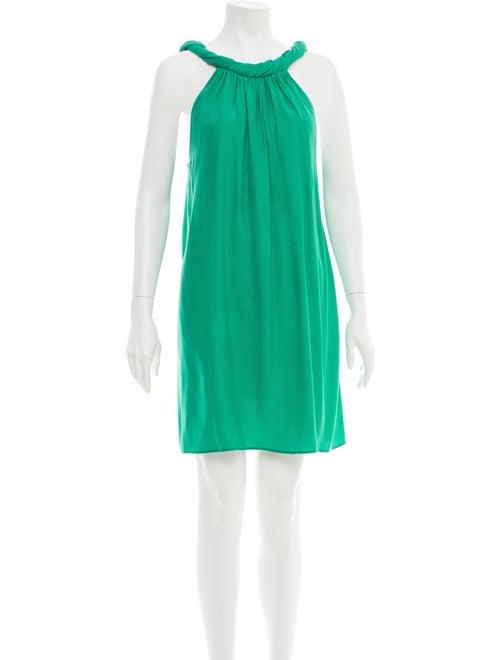 Christopher Deane Silk Mini Dress Green