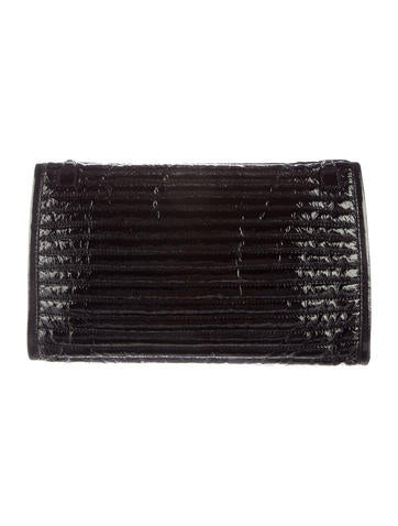 Quilted Patent Leather Clutch