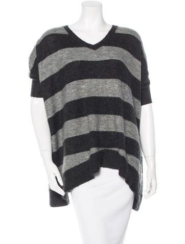 Cynthia Rowley Striped Short Sleeve Sweater None