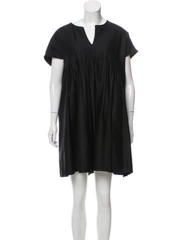Cynthia Rowley Oversize Pleated Dress None