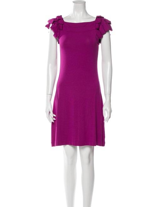 Cynthia Rowley Ruffle-Accented Mini Dress Magenta