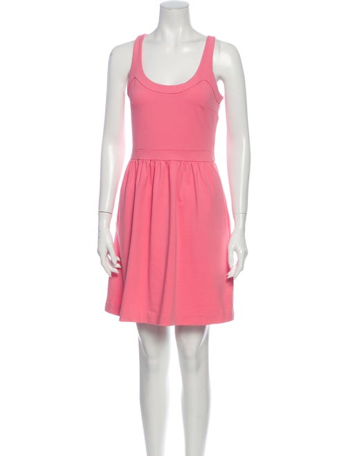 Cynthia Rowley Scoop Neck Mini Dress Pink - image 1