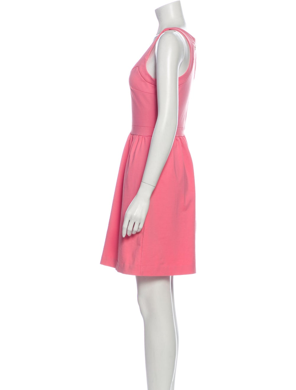 Cynthia Rowley Scoop Neck Mini Dress Pink - image 2