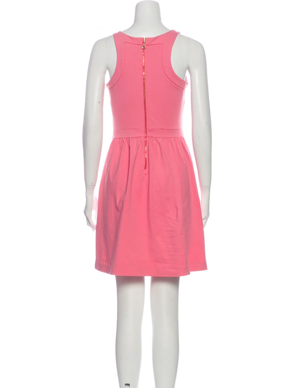 Cynthia Rowley Scoop Neck Mini Dress Pink - image 3