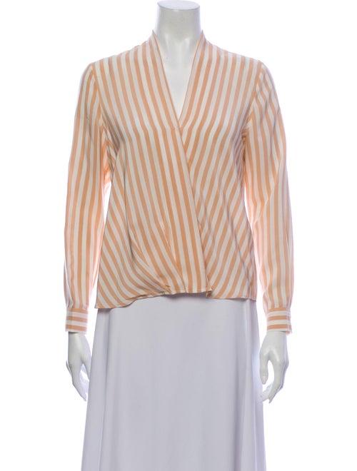 Cuyana Silk Striped Blouse