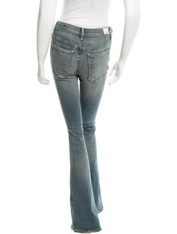 Distressed Flared Jeans w/ Tags