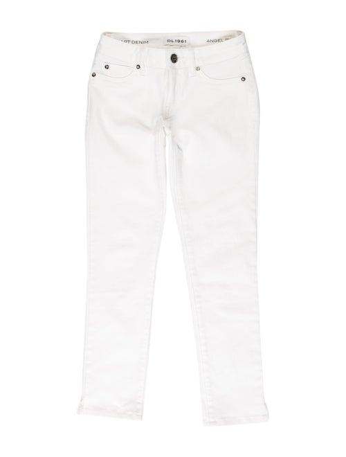 Dl1961 Low-Rise Straight Leg Jeans White