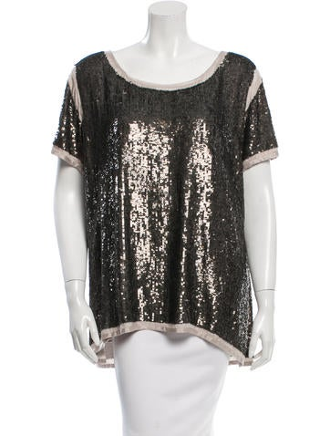 Day Birger et Mikkelsen Sequined Scoop Neck Top w/ Tags None