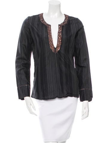 Day Birger et Mikkelsen Silk Embellished Top None