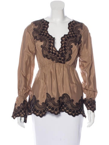 Day Birger et Mikkelsen Embroidered Long Sleeve Top None