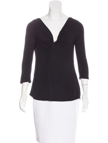 Day Birger et Mikkelsen V-Neck Three-Quarter Sleeve Top None