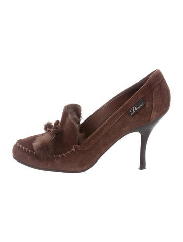 Delman Suede Shearling Lined Pumps sale affordable clearance shop zmRSdd