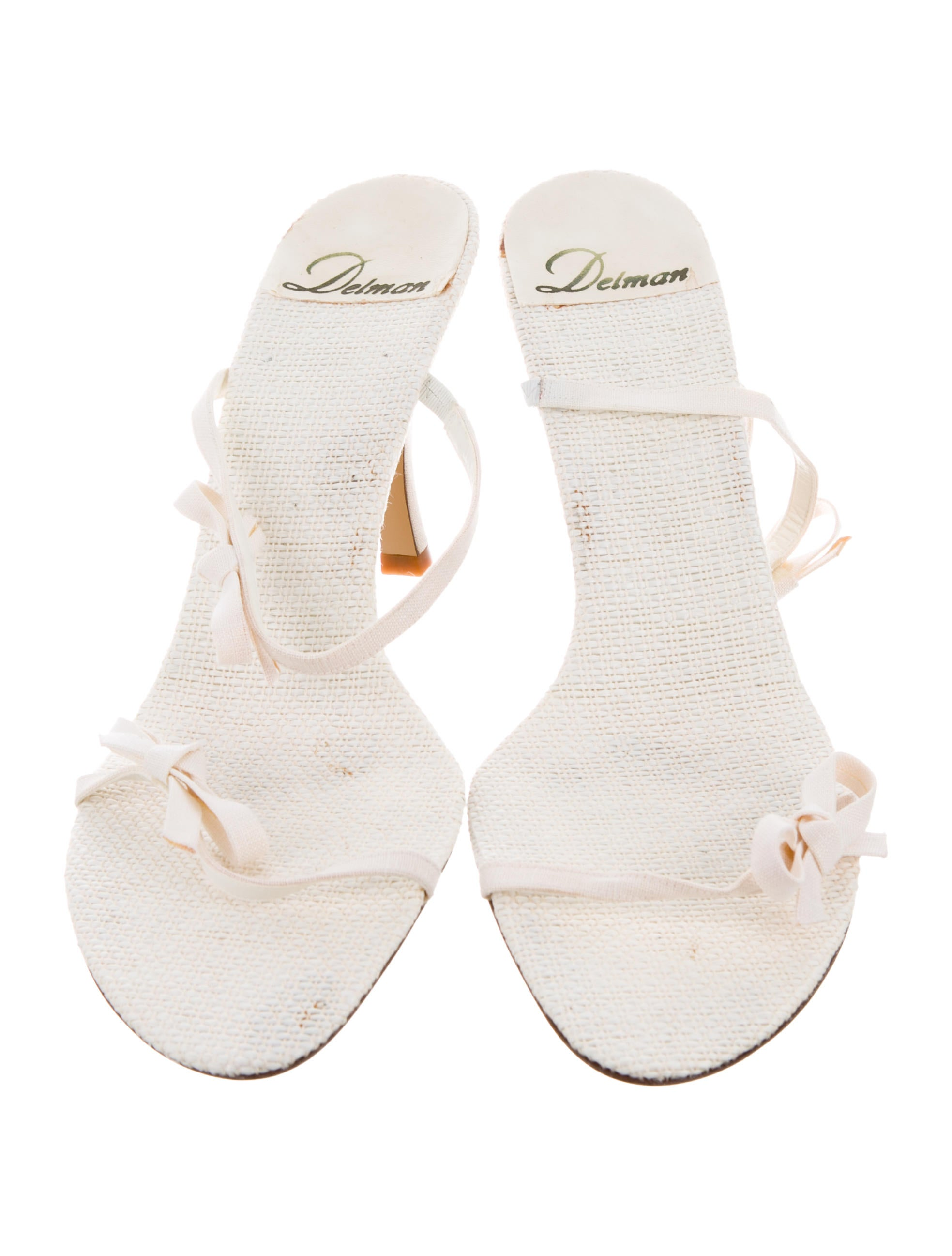 cheap 2014 unisex cheap pay with visa Delman Canvas Slide Sandals sale best store to get lowest price sale online BVOIyC8co