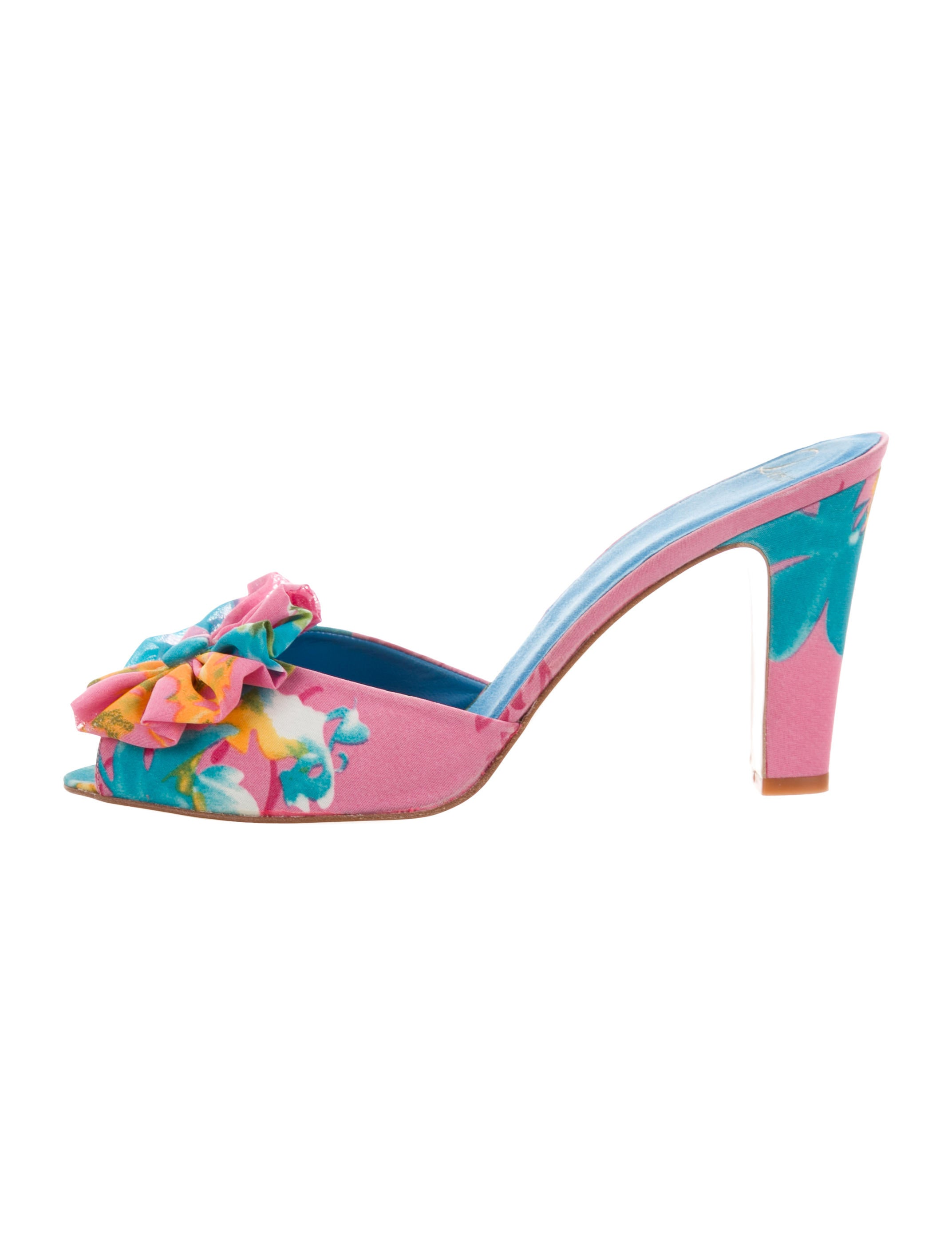 Delman Floral Peep-Toe Mules w/ Tags comfortable cheap price buy cheap outlet store MhIk35EG