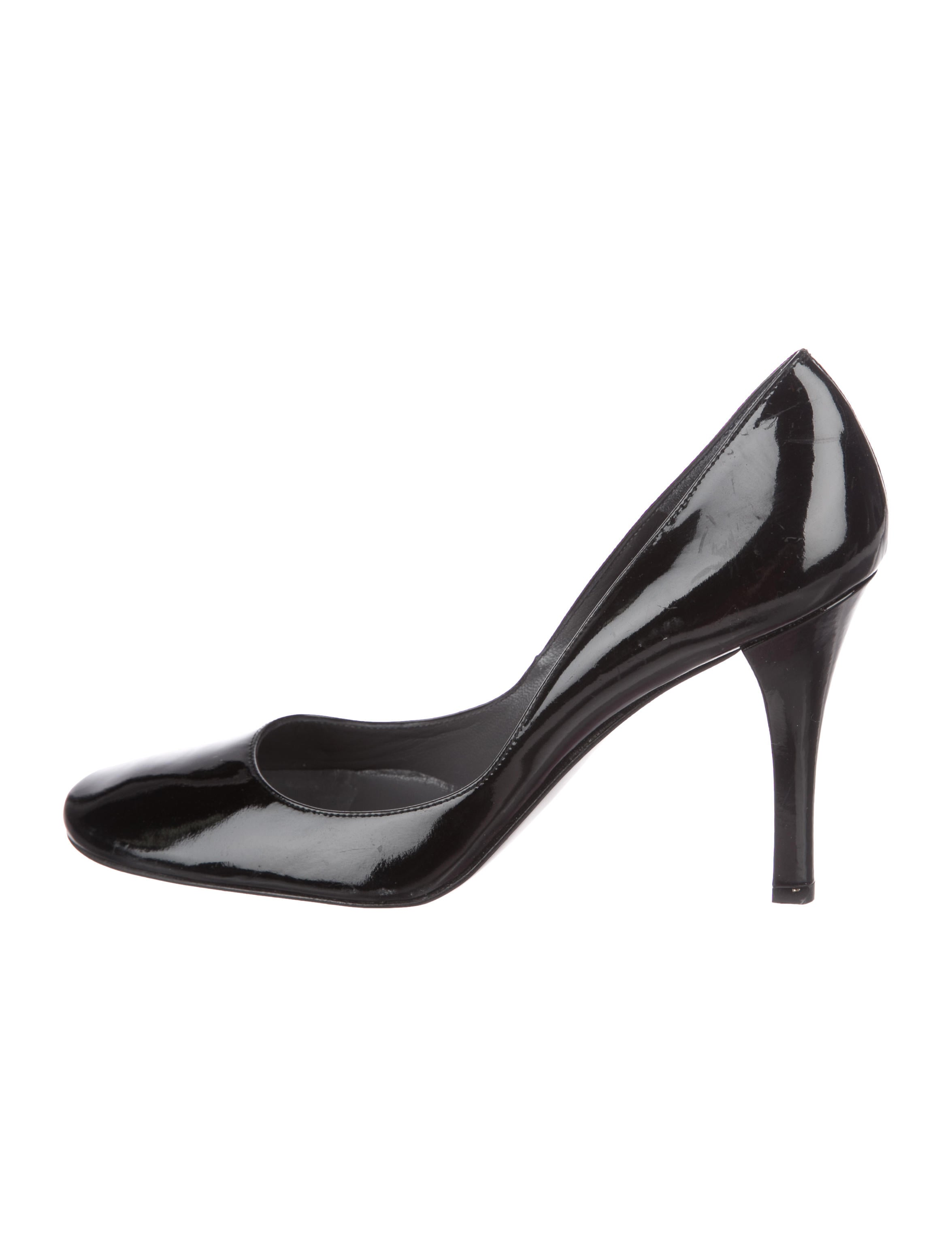 with paypal for sale buy cheap get to buy Delman Patent Leather Round-Toe Pumps Mro6J
