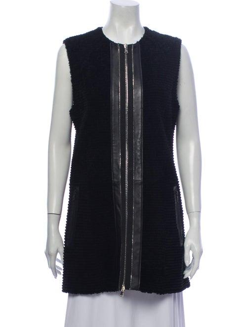 DROMe Leather Vest Black