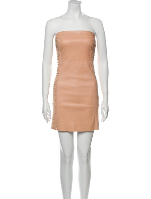 DROMe Strapless Mini Dress Pink