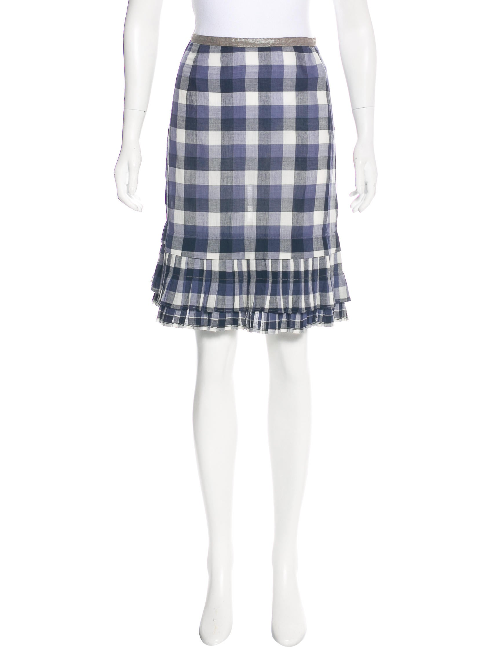 dosa plaid pleated skirt clothing wd820054 the realreal