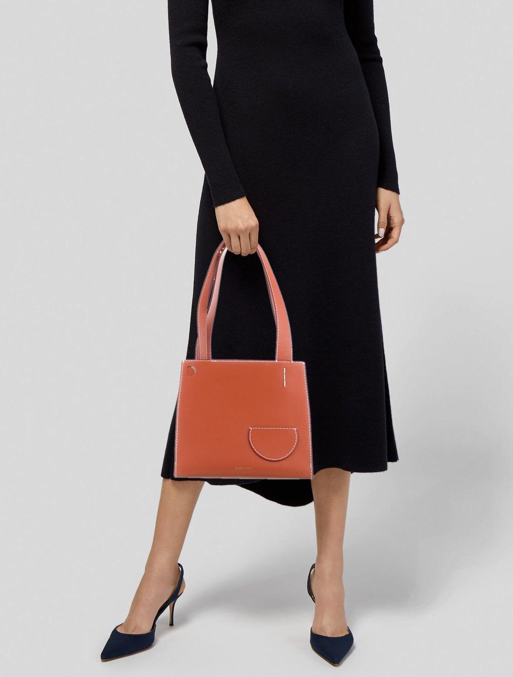 Danse Lente Leather Shoulder Bag Orange - image 2
