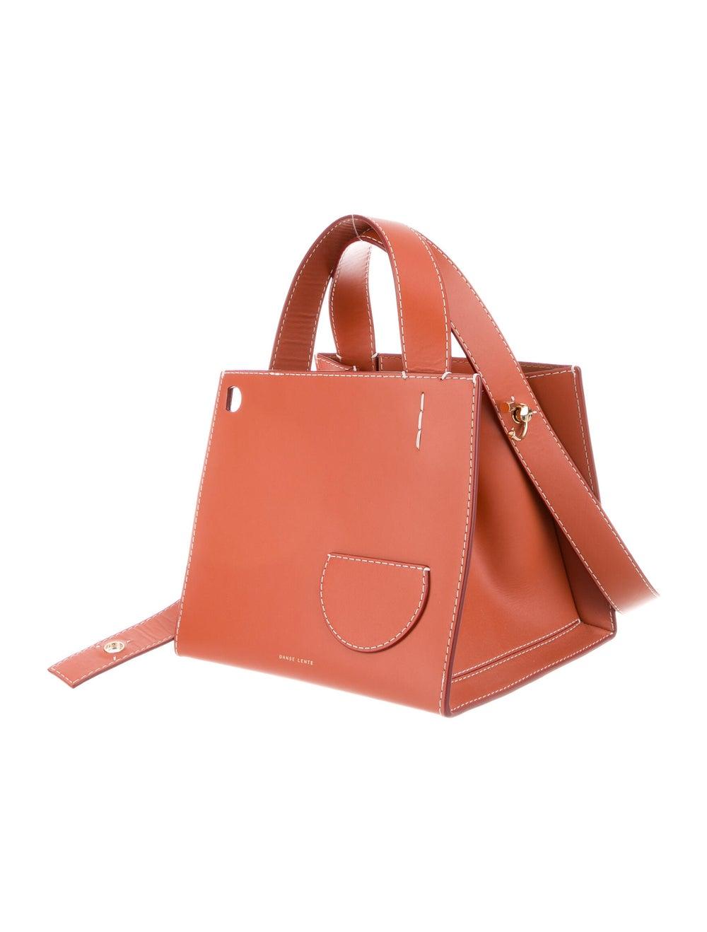 Danse Lente Leather Shoulder Bag Orange - image 3