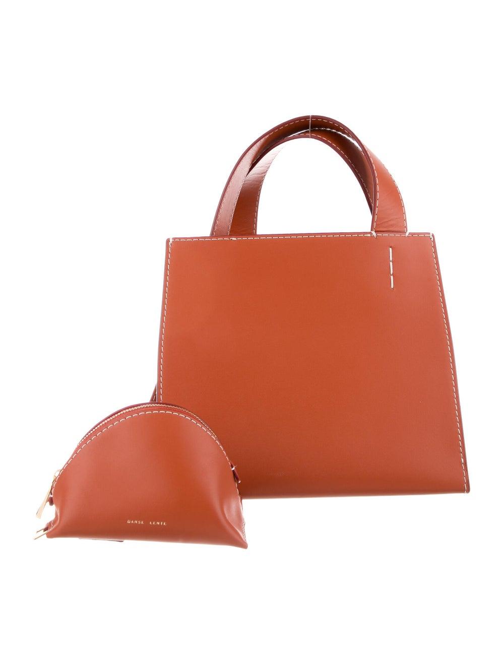 Danse Lente Leather Shoulder Bag Orange - image 4