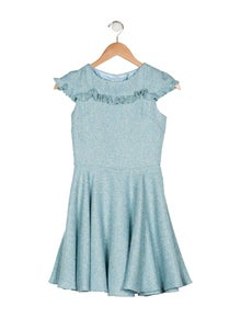 d8c705e370f6 David Charles. Girls' Tweed Ruffle Dress ...