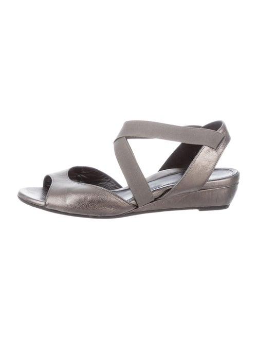 Dana Davis Susie Leather Sandals Grey
