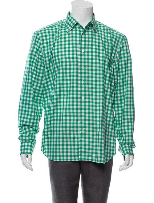 Daniel Cremieux Gingham Dress Shirt green