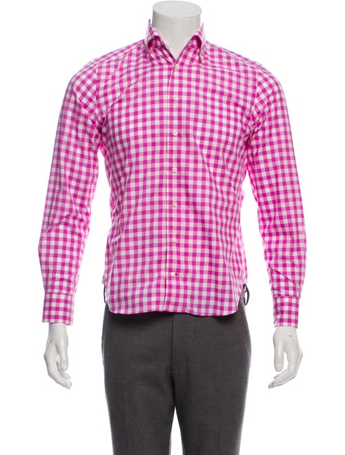 Daniel Cremieux Gingham Dress Shirt w/ Tags pink - image 1