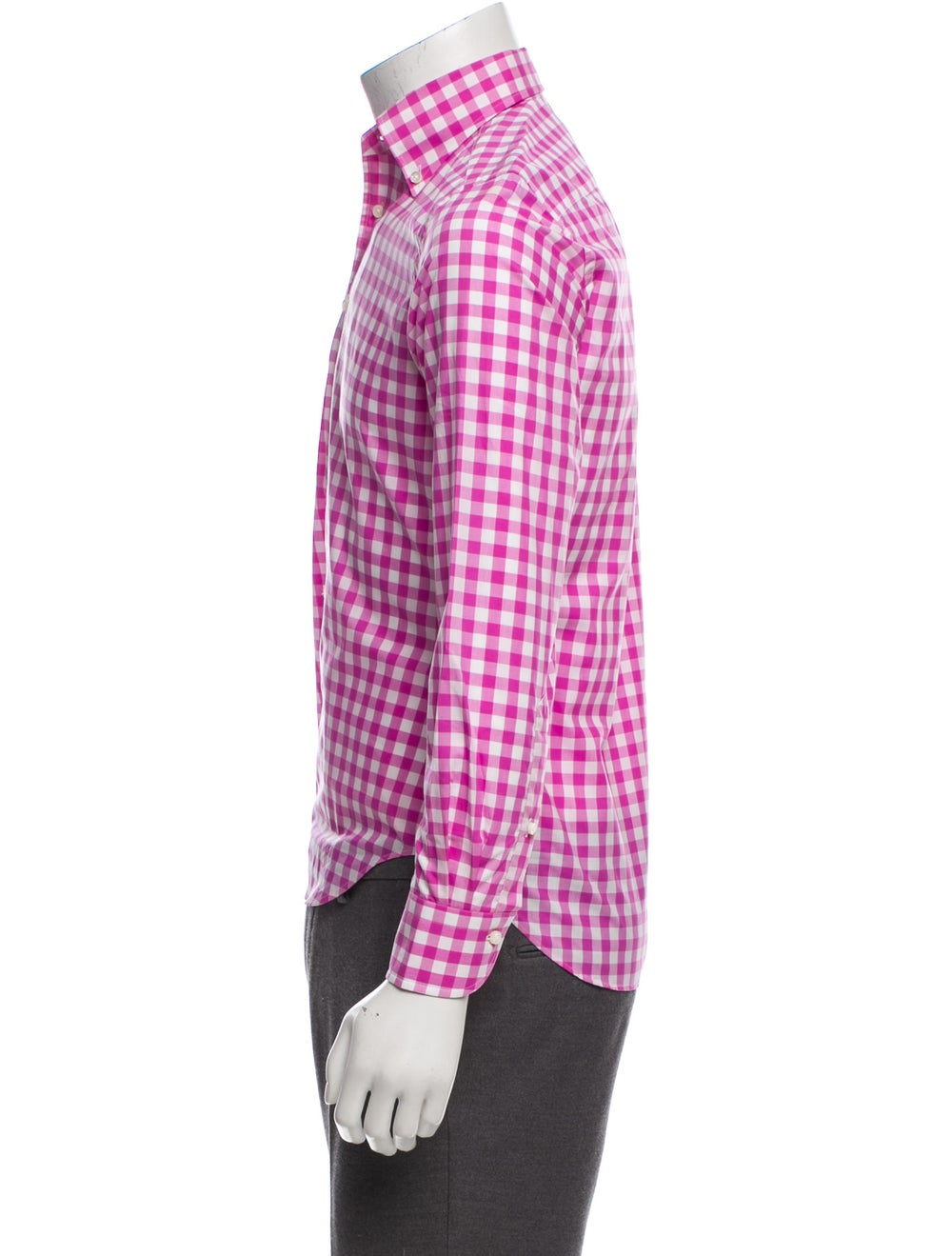 Daniel Cremieux Gingham Dress Shirt w/ Tags pink - image 2