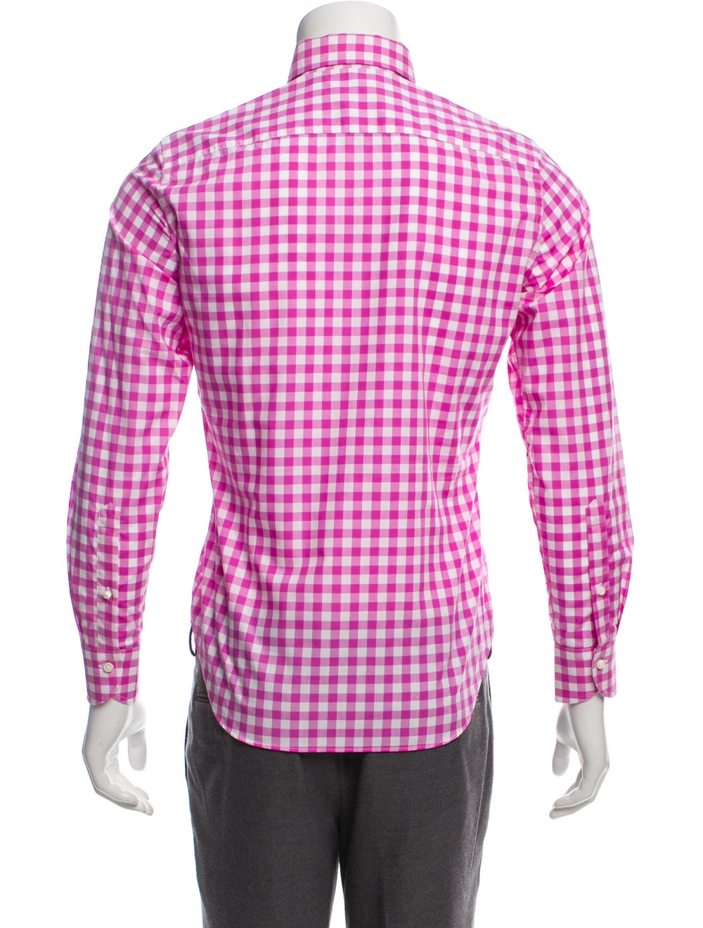 Daniel Cremieux Gingham Dress Shirt w/ Tags pink - image 3