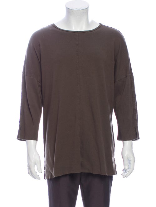 Daniel Patrick Crew Neck Long Sleeve T-Shirt Green