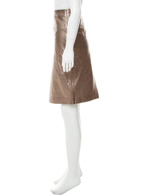 65bcd3686e046 Gerard Darel Metallic Leather Skirt w  Tags - Clothing - WDARL20304 ...