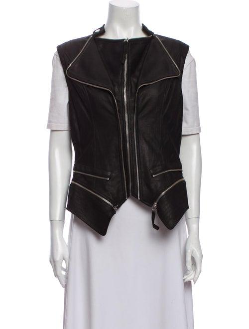 Dawn Levy Leather Vest Black