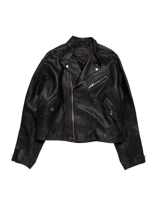 Diesel Black Gold Leather Moto Jacket black