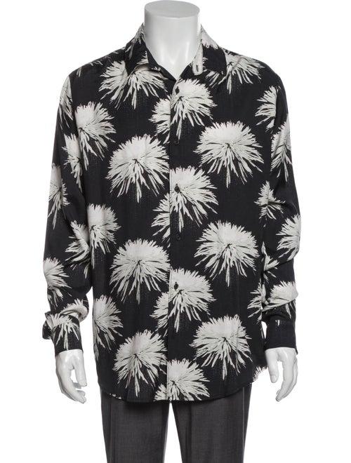 Double Rainbouu Patterned Long Sleeve Shirt Black
