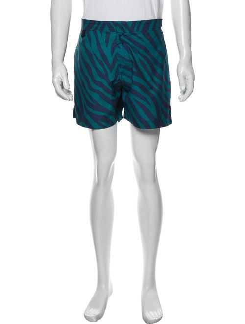 Double Rainbouu Printed Swim Trunks Green