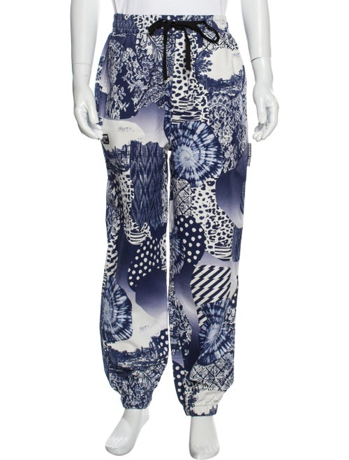Double Rainbouu Printed Pants Blue