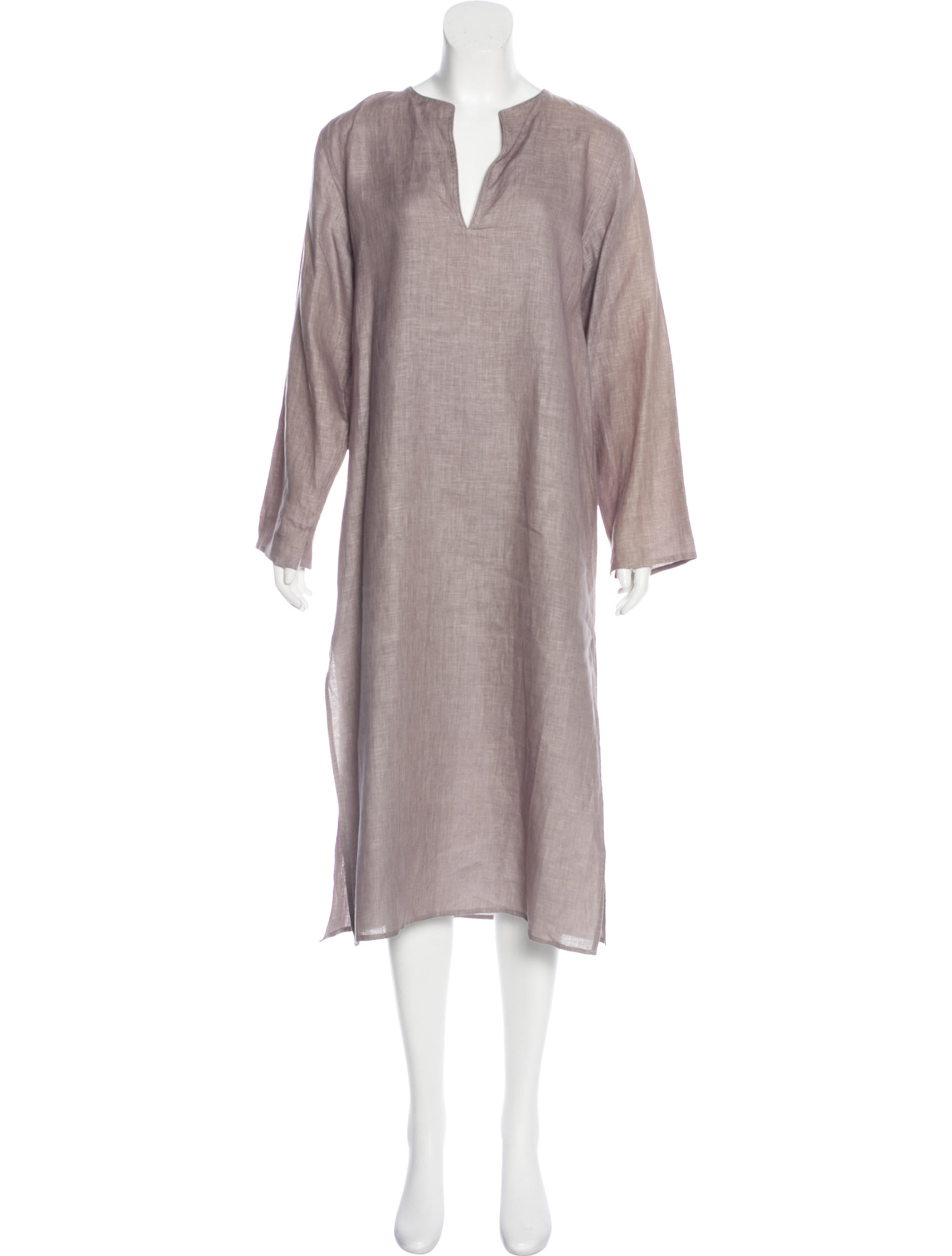 dd5daca1975 Denis Colomb Long Sleeve Linen Dress w  Tags - Clothing - WDC20054 ...